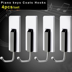 Piano Keys Coat Hooks